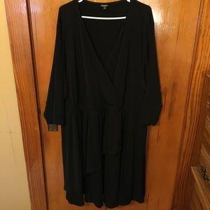 TORRID size 5 black faux wrap dress.